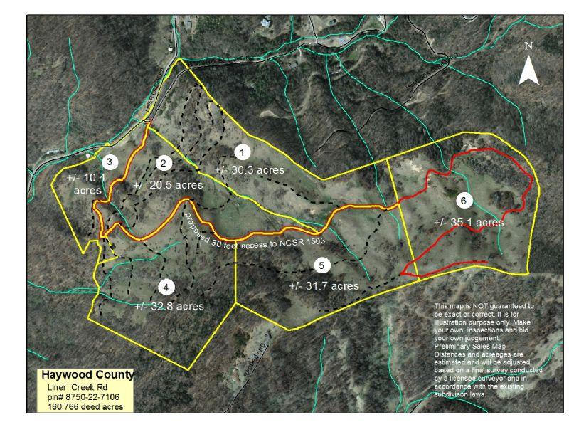 160 Acres Divided Of Higher Pasture : Waynesville : Haywood County : North Carolina