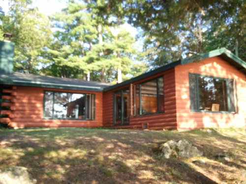 Full Log Home On Pike Lake : Fifield : Price County : Wisconsin