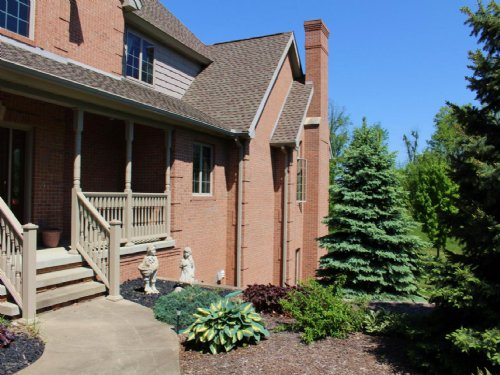 Towering Brick Home On 41.2 Acres : Lawton : Van Buren County : Michigan