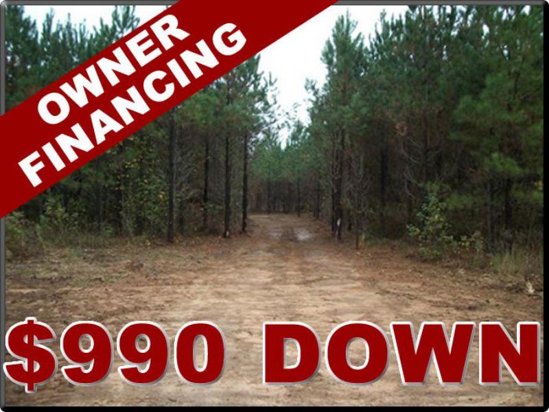 10 Acres, $608 Per Month, $990 Down : White Plains : Hancock County : Georgia