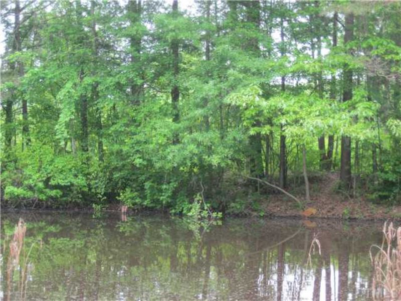 61+ Acres W/pond & Dirt Trails : Siler City : Chatham County : North Carolina