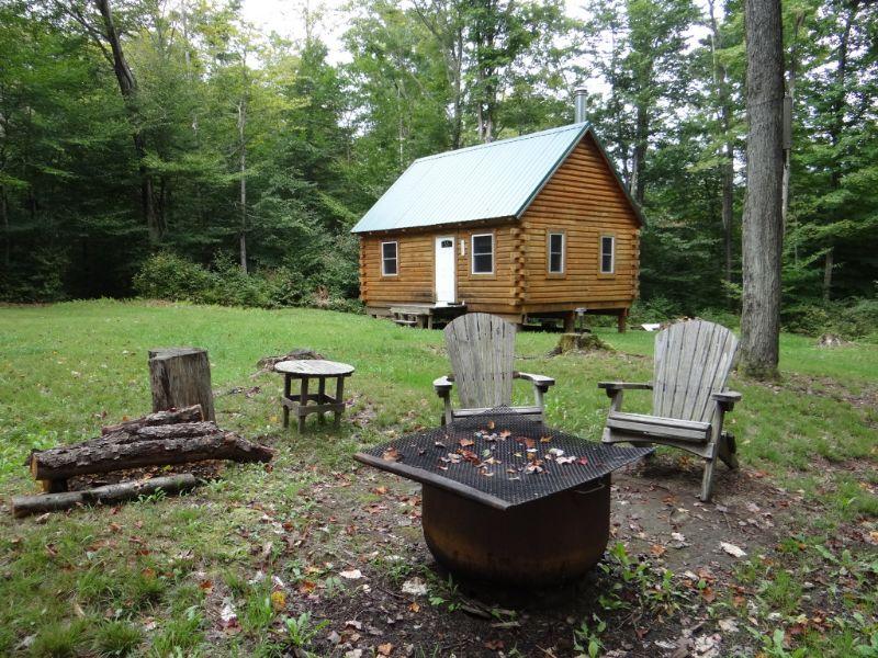 New York Log Cabin For Sale 22 Ac : German : Chenango County : New York