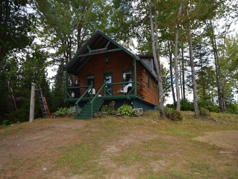 Maine Cabin In The Woods : Hudson : Penobscot County : Maine