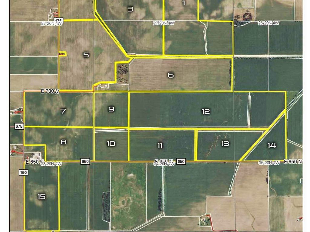 1,400+ Acres In 16 Tracts : Crawfordsville : Montgomery County : Indiana