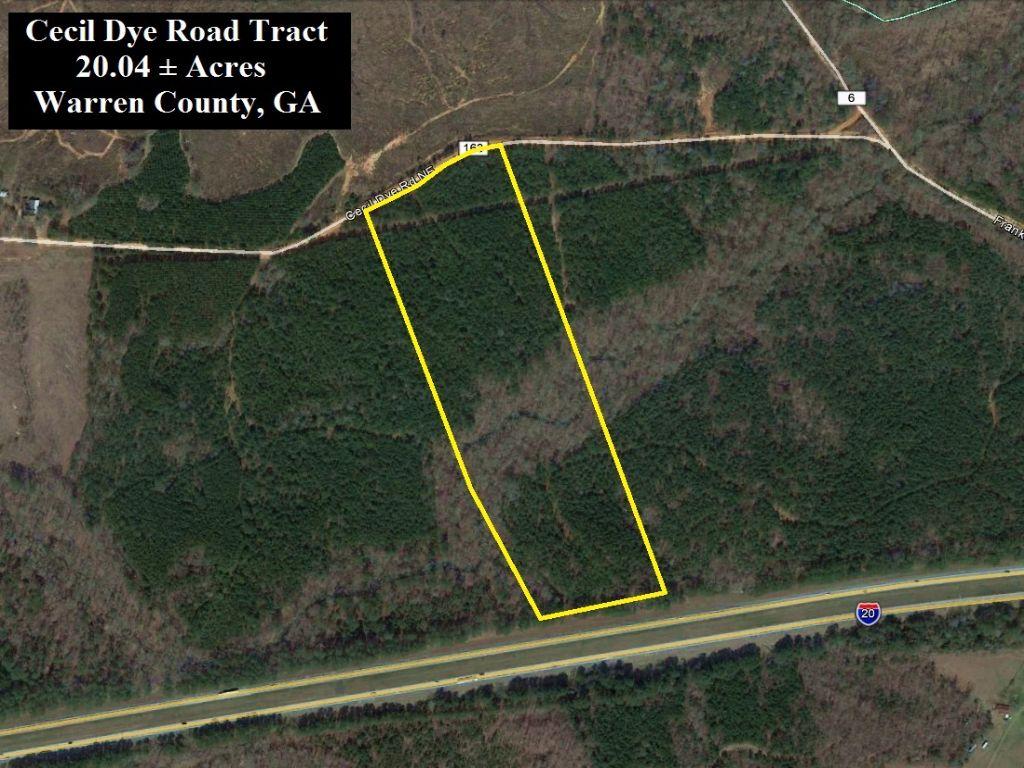 Cecil Dye Road Tract : Norwood : Warren County : Georgia
