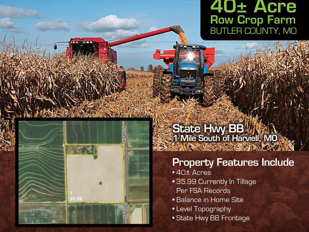 Southeast Mo Farm Land Auction : Harviell : Butler County : Missouri
