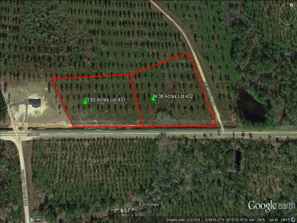 Owner Financing 4 36 Acres Paved Rd : Farm for Sale : Baxley