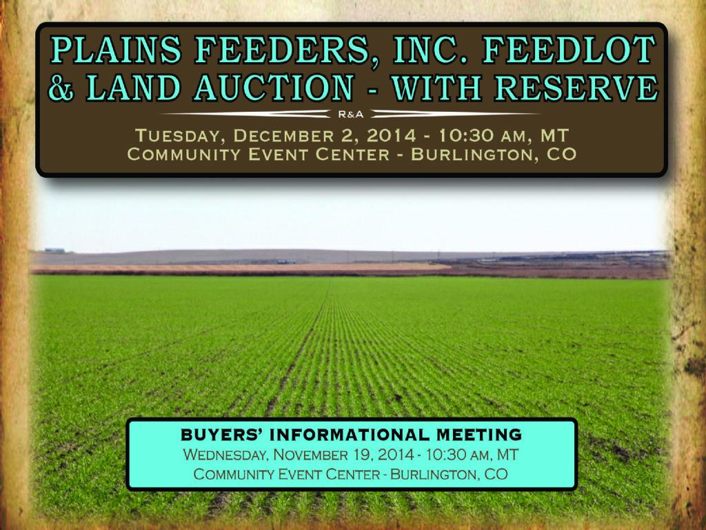 Plains Feeders Auction : Burlington : Kit Carson County : Colorado