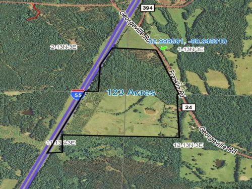 123 Acres In Holmes County, Mississ : Goodman : Holmes County : Mississippi