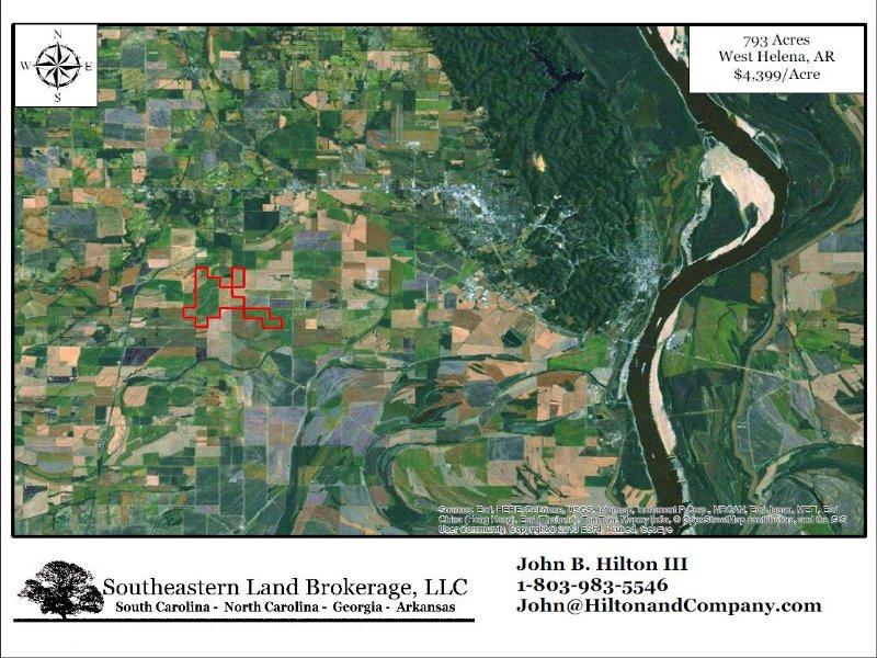 793 Acres : West Helena : Phillips County : Arkansas