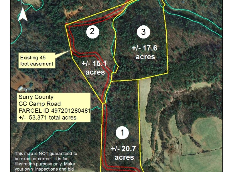 53.37 Acres On Mitchell River : Elkin : Surry County : North Carolina