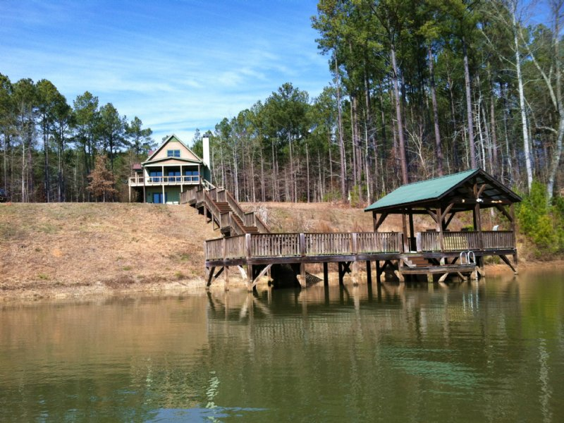 The Cabin And Pond At Wolfskin : Crawford : Oglethorpe County : Georgia