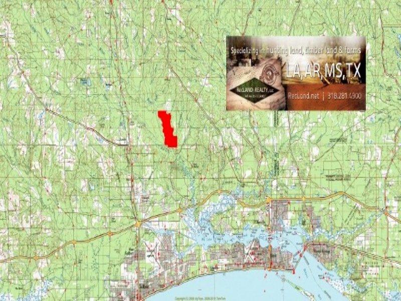 630.00 Acres Fishing Land, Hunting : Gulfport : Harrison County : Mississippi