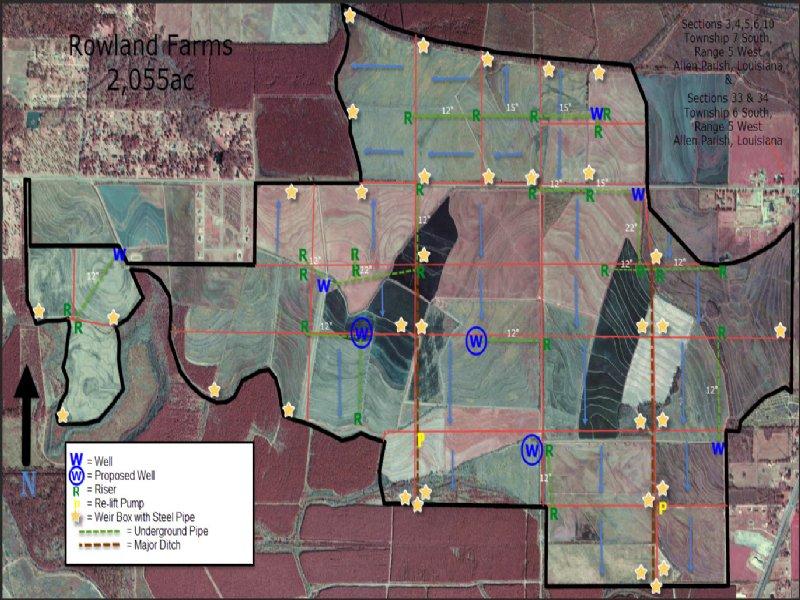 2,055 Irrigated Acres In One Tract : Kinder : Allen Parish : Louisiana