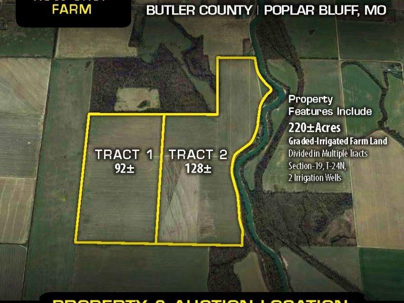 Se Missouri Farm Land Auction : Poplar Bluff : Butler County : Missouri