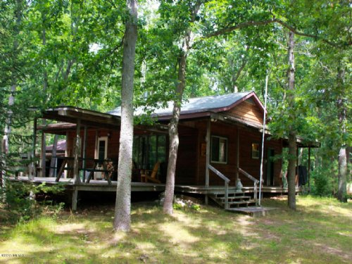 Well Built Cabin On 10 Acres : Branch : Mason County : Michigan