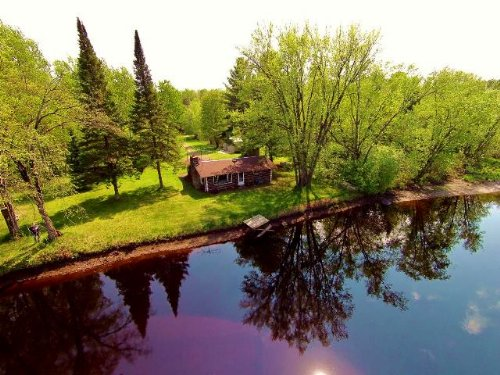 15.91 Ac Tomahawk River Cabin : Hazelhurst : Oneida County : Wisconsin