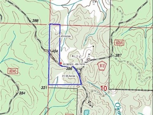 40 Acres In Yalobusha County : Tillatoba : Yalobusha County : Mississippi