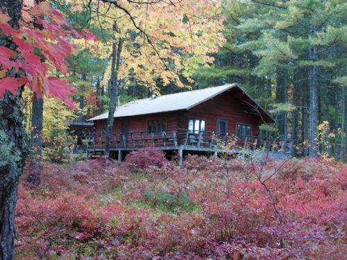 Southwest Pond Log Cabin : Beddington : Washington County : Maine